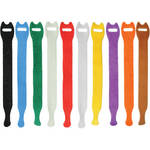 "Pearstone 0.5 x 8"" Touch Fastener Straps (Multi-Colored, 10-Pack)"