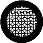 Rosco Steel Gobo #7740 - Chinese Screen - Size B