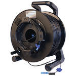 Tactical Fiber Systems DuraTAC Armored Single Mode Tactical Fiber Cable & Reel with 2 LC Connectors (1000 ft)