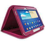 "rooCASE Executive Folio Leather Case with Stylus for Galaxy Tab 3 10.1"" (Magenta)"
