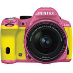 Pentax K-50 Digital SLR Camera with 18-55mm f/3.5-5.6 Lens (Pink/Yellow)