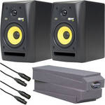 KRK RoKit 5 G2 Desktop Stereo Pair Kit with XLR Cables and MoPADs