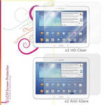 "rooCASE HD Clear and Anti-Glare Screen Protectors for Galaxy Tab 3, 10.1"" (4-Pack)"