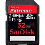 SanDisk 32GB Extreme UHS-I SDHC Memory Card (Class 10)