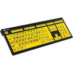 LogicKeyboard XL Print NERO PC Slim Line Black on Yellow Keyboard