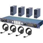 Datavideo ITC100HP1K - ITC-100 Wired Intercom System with Four HP-1 Headsets Kit