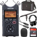 Tascam DR-40 Street Interviewer Portable Recorder Pack