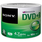 Sony DVD+R 4.7GB Recordable Media Spindle (50 Discs)