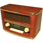 Wolverine Data Retro Style Bluetooth Speaker with AM/FM Radio
