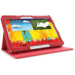 rooCASE Dual View Folio Case Cover for Samsung Galaxy Note 10.1 (2014 Ed.) (Red)