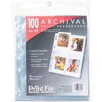 "Print File 44-8P Archival Storage Page for 8 Prints (4 x 4.5"", 100-Pack)"