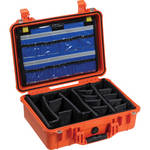 Pelican 1500EMS Watertight ATA Hard Case with EMS Organizer and Dividers (Orange)