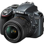 Nikon D3300 DSLR Camera with 18-55mm Lens (Gray)