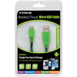 Xtreme Cables Micro USB 2.0 Sync and Charge Cable (6' / Green & Black)