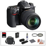 Nikon D7000 Digital SLR Camera and 18-105mm DX VR Lens with Basic Accessory Kit