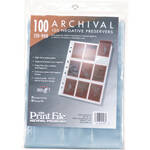 "Print File 120-9HB Archival Storage Page for 9 Negatives (2.6 x 3.6"" Pockets, 100-Pack)"