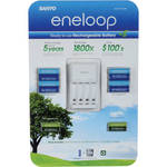 Sanyo eneloop 4-Position Charger with 8 AA and 4 AAA 1.2V NiMH Batteries