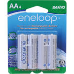 Sanyo Eneloop AA Rechargeable Ni-MH Batteries (1900mAh, Pack of 4)