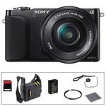 Sony Alpha NEX-3N Mirrorless Digital Camera with 16-50mm Lens Basic Accessory Kit (Black)