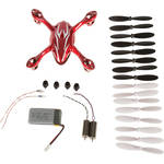 HUBSAN Crash Pack for H107C X4 Quadcopter (Red/White)