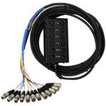 Pro Co Sound StageMaster Snake 12 Channel Stagebox to Fanout (8x Send + 4x XLR Male Return) (50')