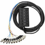 Pro Co Sound StageMaster Snake 12 Channel Stagebox to Fanout (8x Send + 4x XLR Male Return) (150')