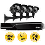 Defender Sentinel 8-Channel 500GB HDD DVR Kit with Four Outdoor Bullet Cameras