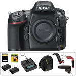 Nikon D800 DSLR Camera Body Deluxe Video Kit