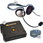 Eartec Comstar XT Full Duplex Wireless System with Monarch Headsets (6 User)