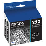 Epson 252 DURABrite Ultra Black Ink Cartridge Dual Pack