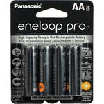 Panasonic eneloop pro AA Rechargeable Ni-MH Batteries (2550 mAh, Pack of 8)