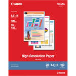 "Canon High Resolution Paper (8.5 x 11"", 100 Sheets)"