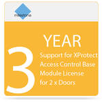 Milestone 3-Year SUP for XProtect Access Control Base Module License for 2 x Doors