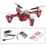 HUBSAN X4 H107C-HD Quadcopter with Spare Battery, Props and Changer Kit (Red/White)