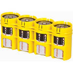 STORACELL SlimLine D4 Battery Holder (Yellow)