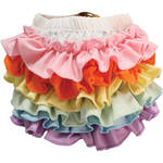 Custom Photo Props Stretch Ruffle Diaper Cover Bloomer (Ice Cream)