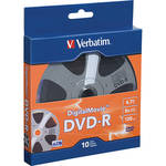 Verbatim Digital Movie DVD-R 4.7GB/120 Minutes Disc (Pack of 10)