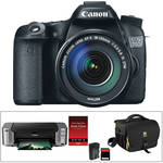 Canon EOS 70D DSLR Camera Kit with 18-135mm STM Lens & PIXMA PRO-100 Inkjet Printer