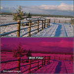 "Tiffen 6 x 6"" 3 Cranberry Solid Color Filter"