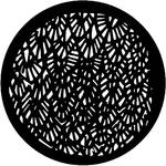 Rosco Steel Gobo #7102 - Abstract Leaves - Size B