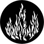 Rosco Steel Gobo #7175 - Flames 1 - Size E