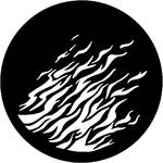 Rosco Steel Gobo #7176 - Flames 2 - Size E