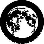 Rosco Steel Gobo #7220 - Moon - Size E