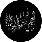 Rosco Steel Gobo #7287 - NYC Skyline - Size B