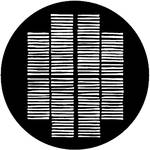 Rosco Steel Gobo #7701 - Shutters - Size B