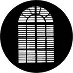 Rosco Steel Gobo #7759 - Shuttered Arch - Size A