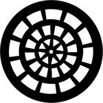 Rosco Steel Gobo #7758 - Rose Window - Size E