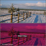 "Tiffen 4 x 4"" 3 Cranberry Solid Color Filter"