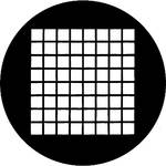 Rosco Standard Steel Gobo #78041M Small Squares (M = Size 66mm)