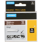 "Dymo Rhino 3/4"" Brown Vinyl Labels (White Print)"